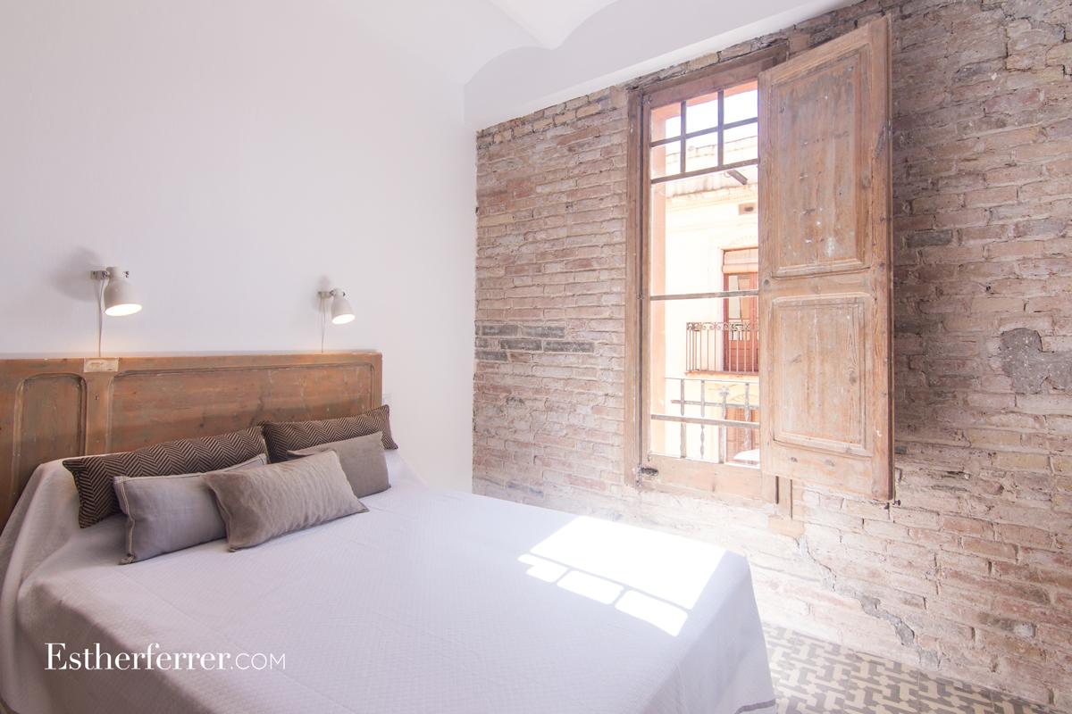 reforma integral de piso modernista en Sants. Dormitorio