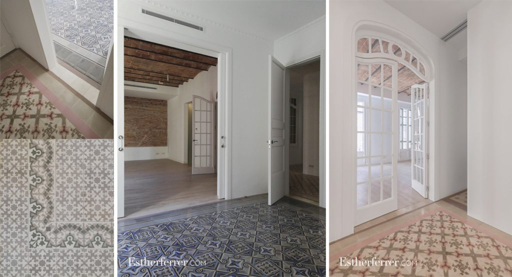 cómo reformar un piso modernista en barcelona sin estropearlo: mosaico nolla