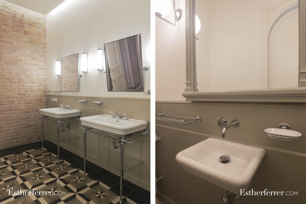 cómo reformar un piso modernista en barcelona sin estropearlo: baños vintage