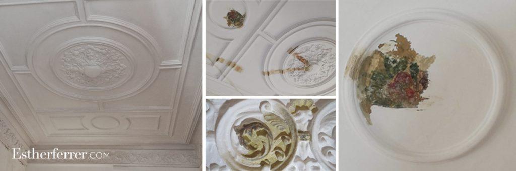 cómo reformar un piso modernista en barcelona sin estropearlo: restauración de techo