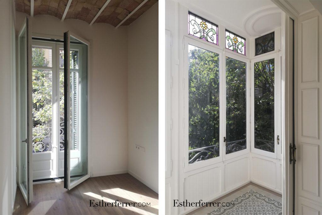 cómo reformar un piso modernista en Barcelona sin estropearlo: ventanas acústicas