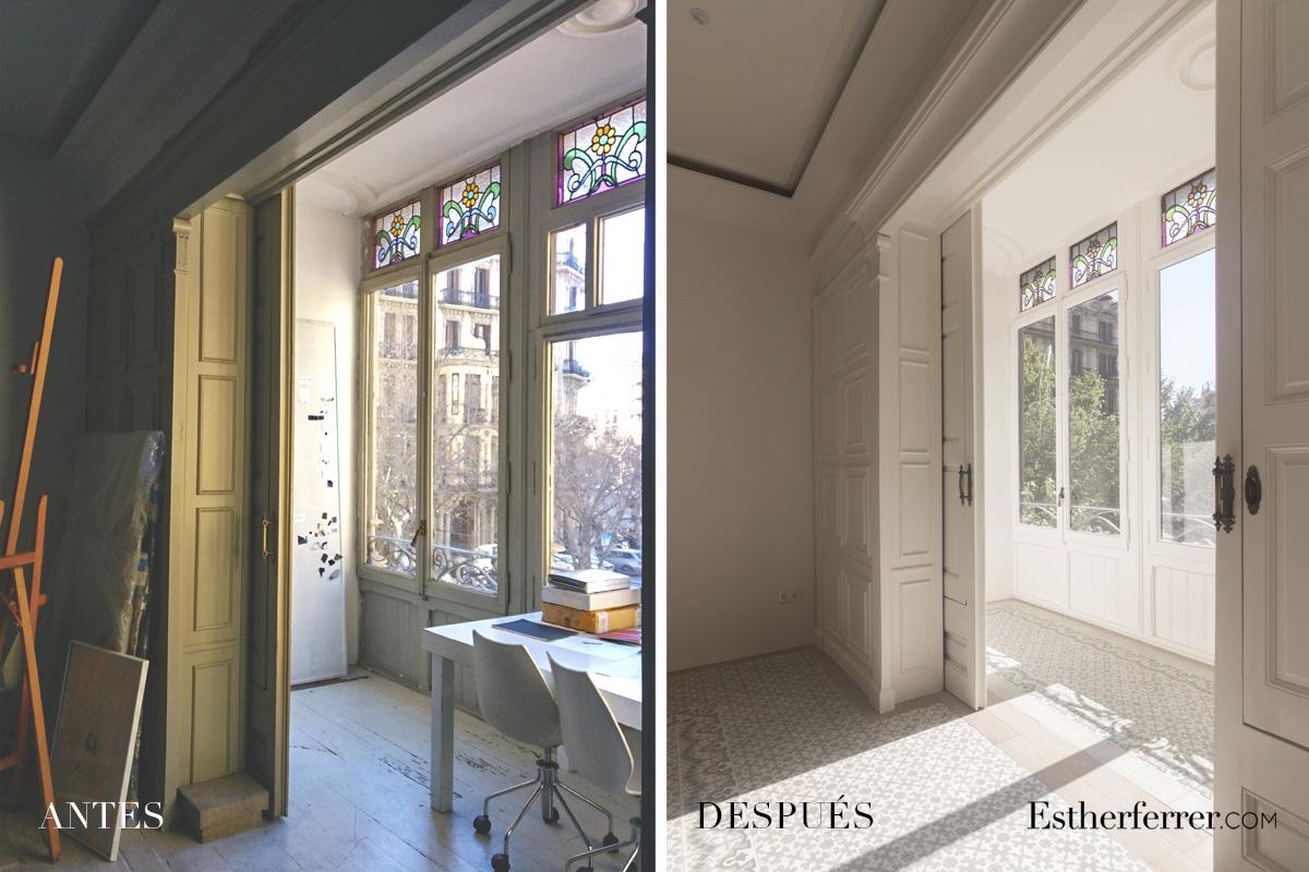 Reforma integral de piso modernista en l'Eixample. antes después galería