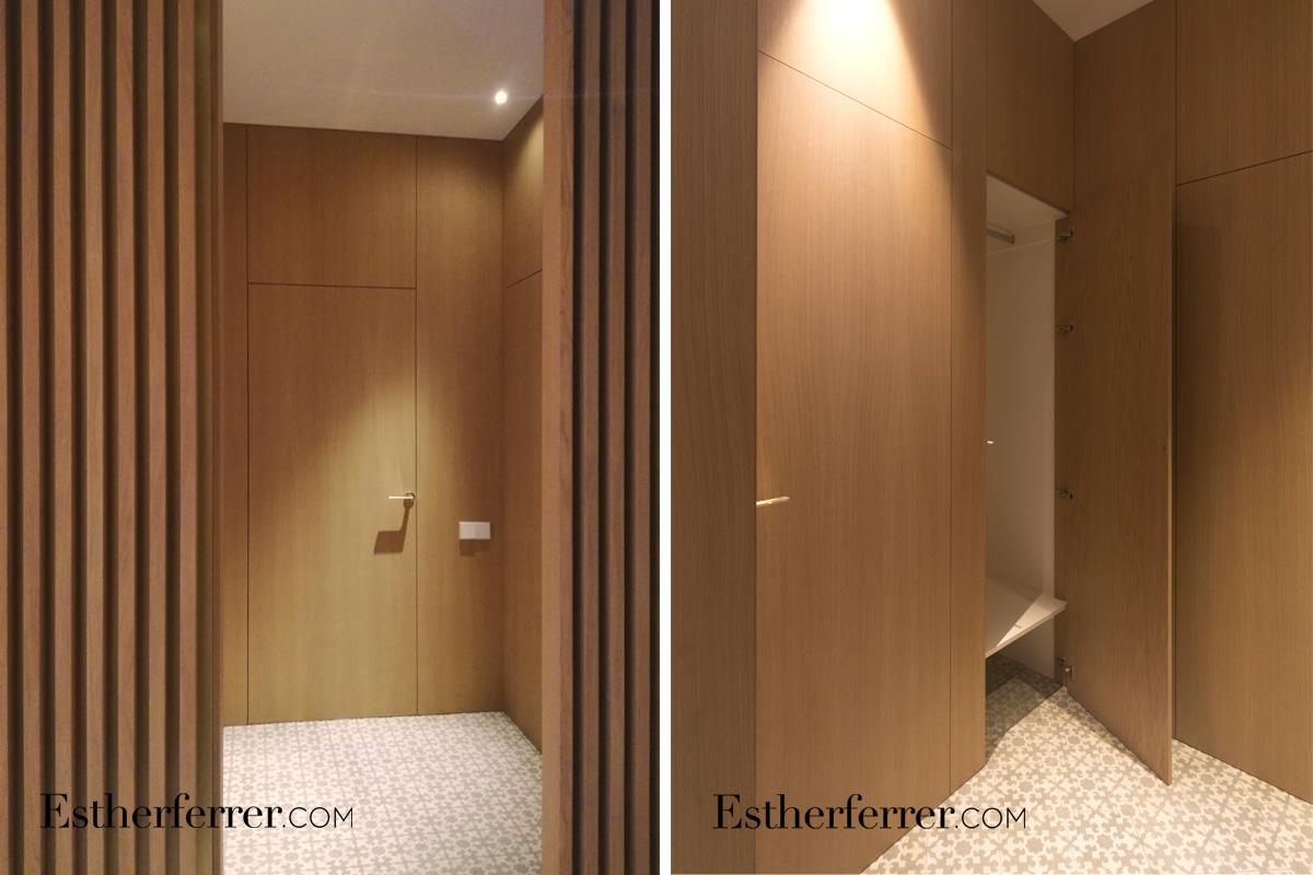 Reforma integral de piso modernista en l'Eixample. armarios de roble