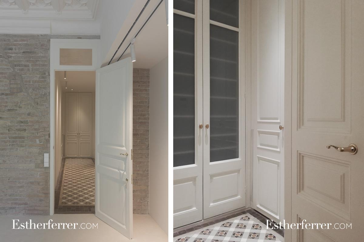 Reforma integral de piso modernista en l'Eixample. Vestidor clásico