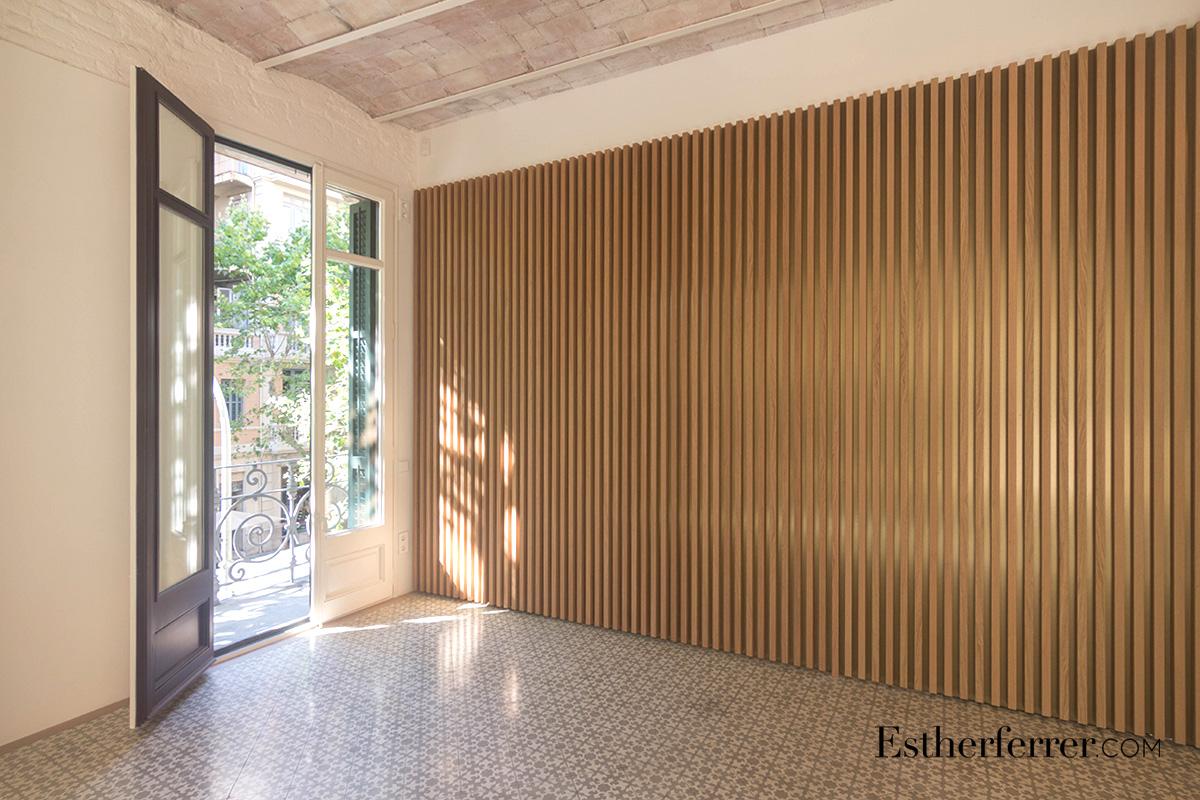 Reforma integral de piso modernista en l'Eixample. salon
