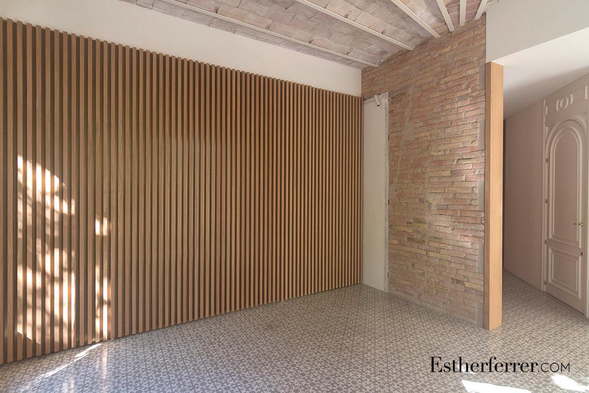 Reforma integral de piso modernista en l'Eixample. volta catalana