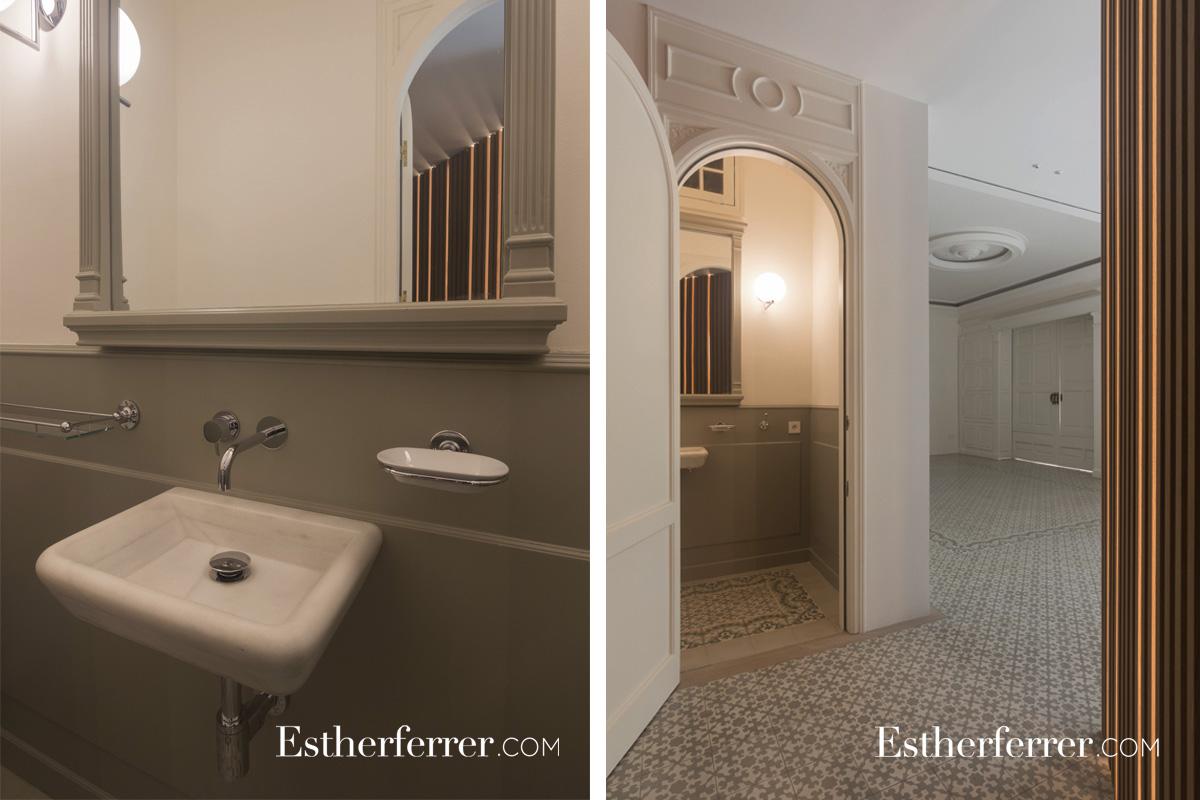 Reforma integral de piso modernista en l'Eixample. Baño vintage.