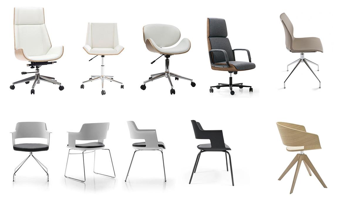 oficina en Barcelona. Selección de mueblesmuebles acabados