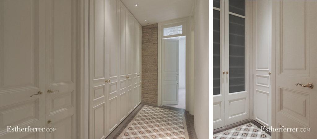 3 ideas para reformar tu casa tras el confinamiento: armario ropero blanco y vestidor clásico