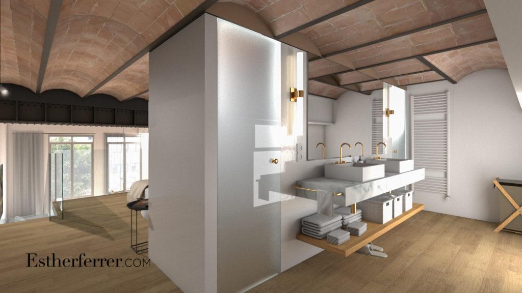 3 ideas para reformar tu casa tras el confinamiento: baño abierto con cabina de ducha