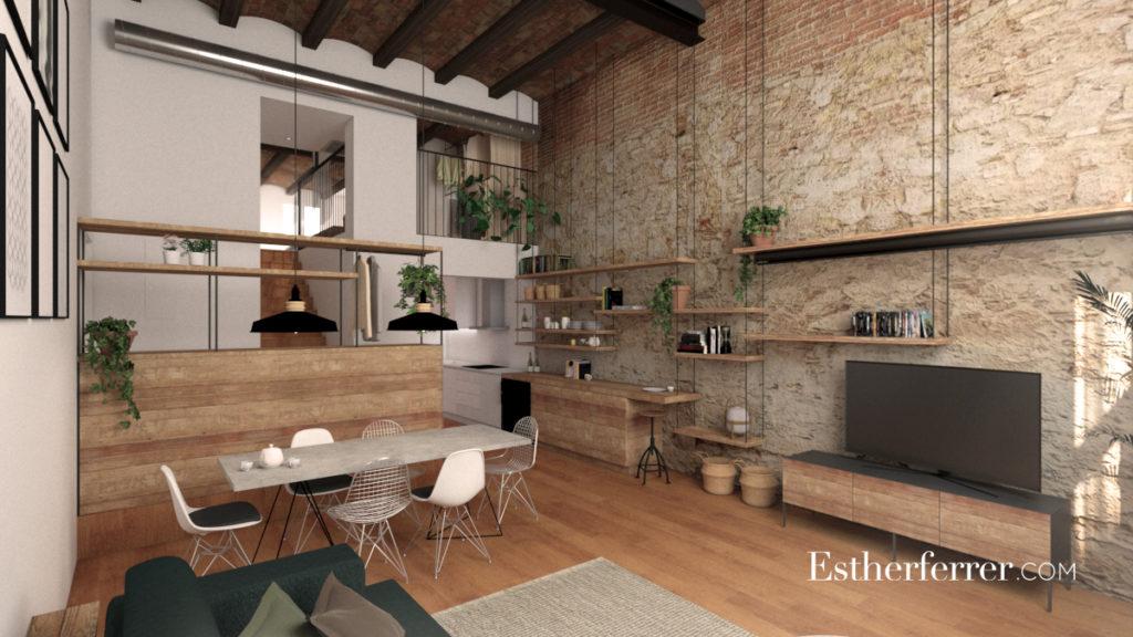 3 ideas para reformar tu casa tras el confinamiento: sala comedor a doble altura