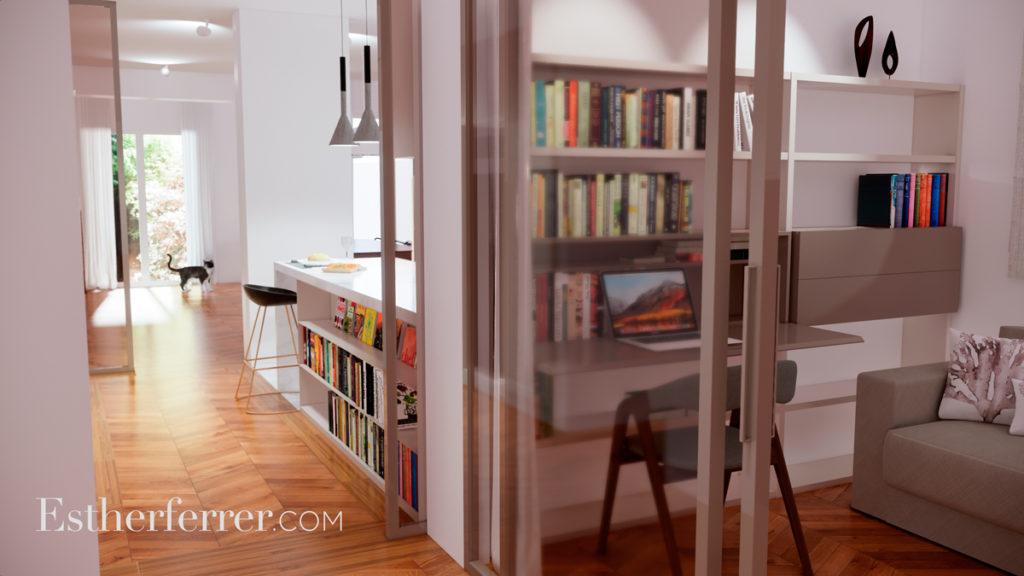 3 ideas para reformar tu casa tras el confinamiento: escritorios de cortesía en cocina y librería