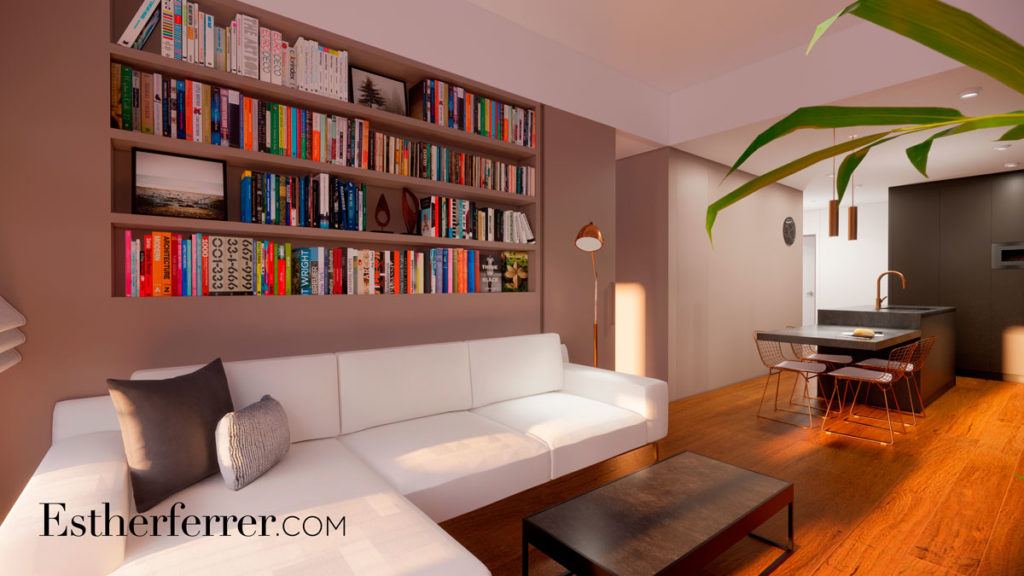 3 ideas para reformar tu casa tras el confinamiento: librería empotrada en sala