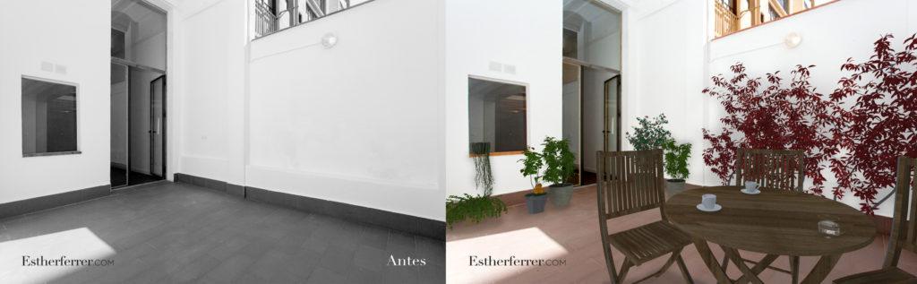 3 ideas para reformar tu casa tras el confinamiento: patio con plantas