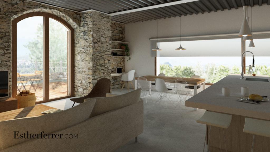 3 ideas para reformar tu casa tras el confinamiento: cocina y sala con ventanal