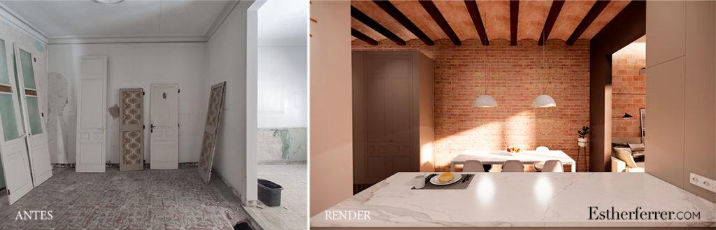 reforma de piso modernista en sants