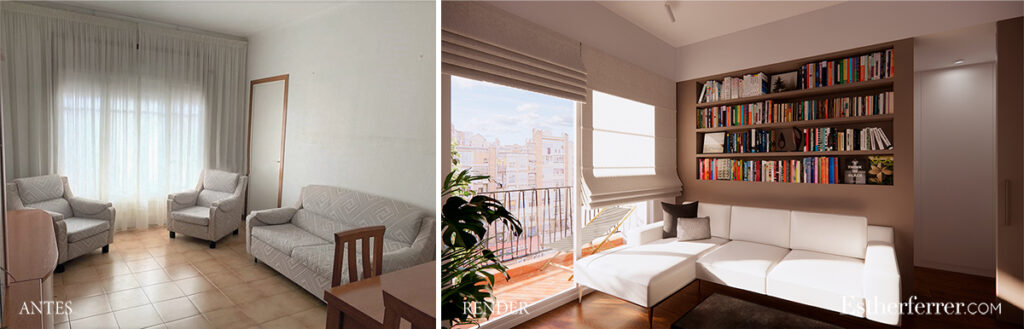 reforma integral de piso en Mercat de Sant Antoni