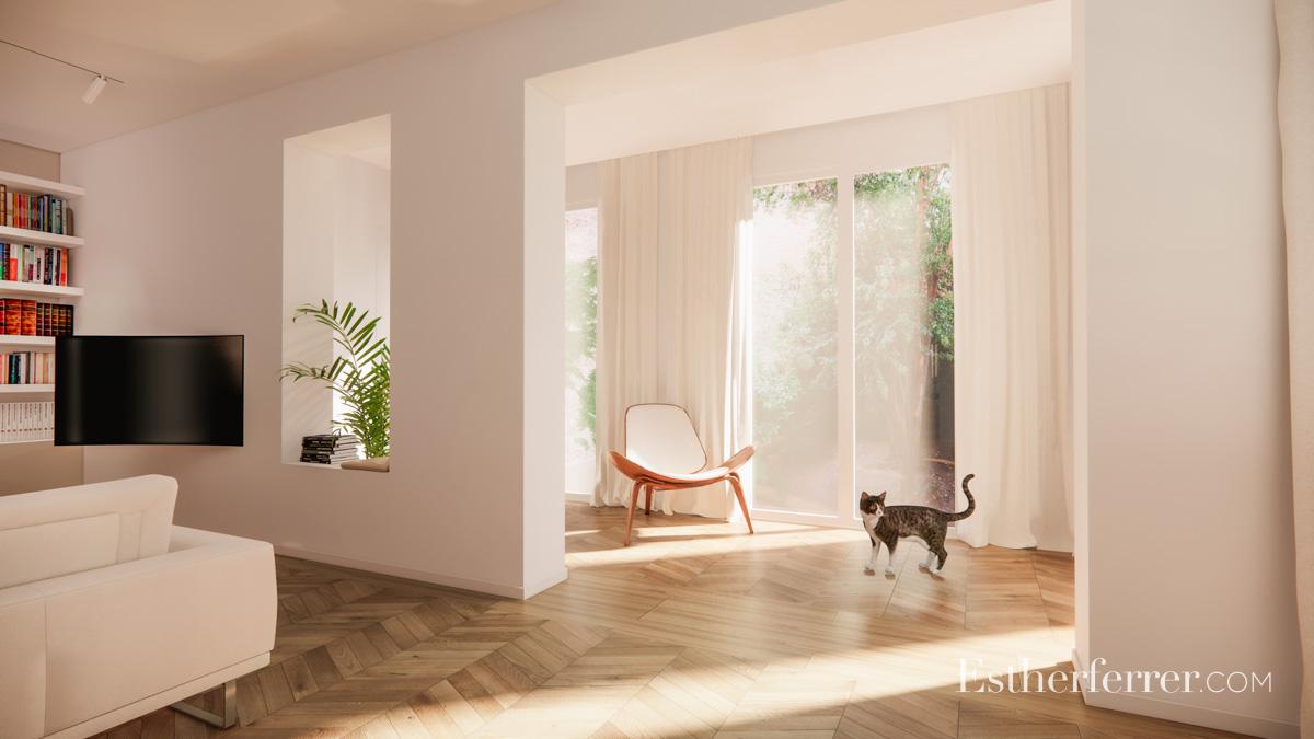 reforma de piso con jardín en la Bonanova